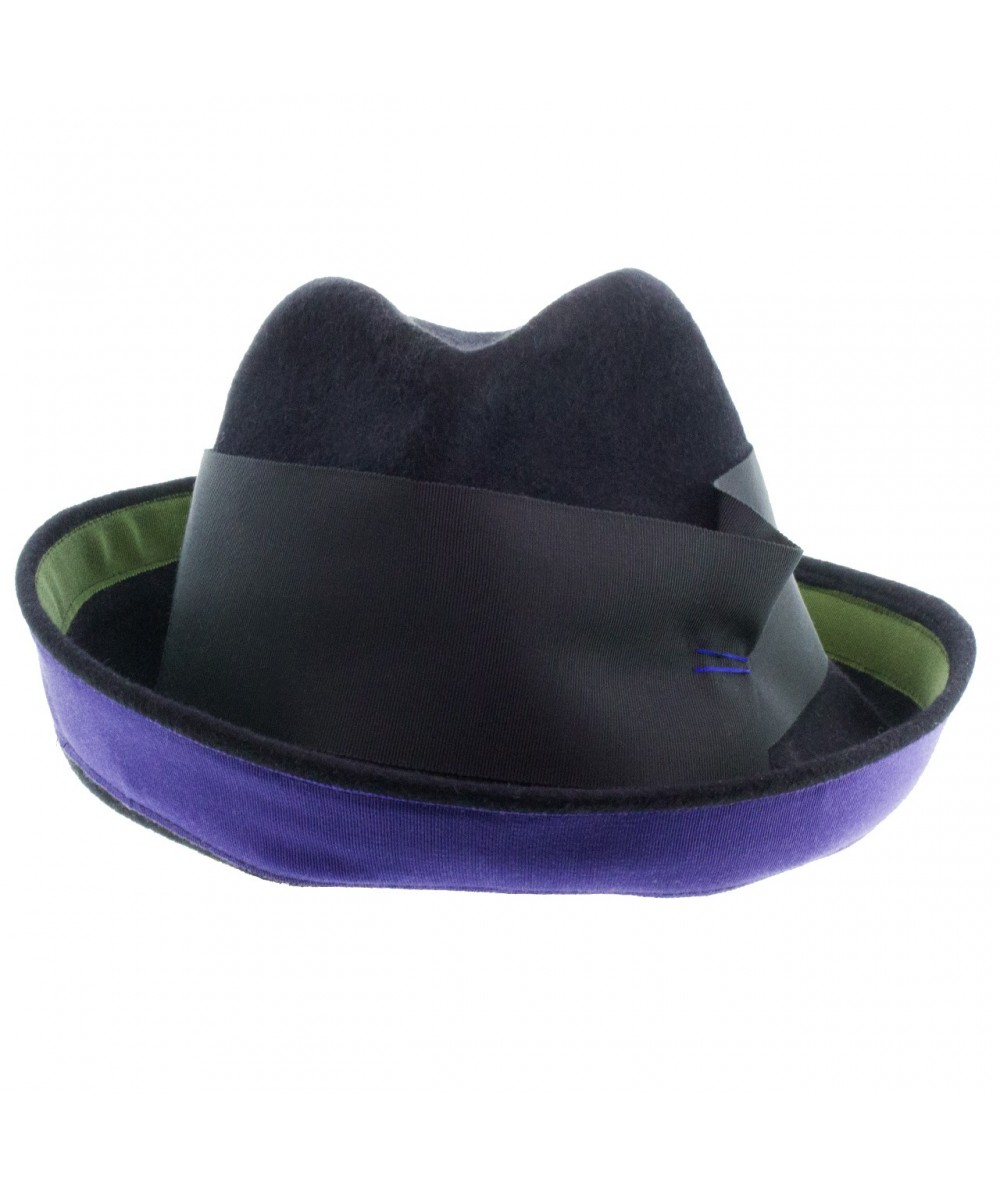 Felt Hat with Grosgrain Trim