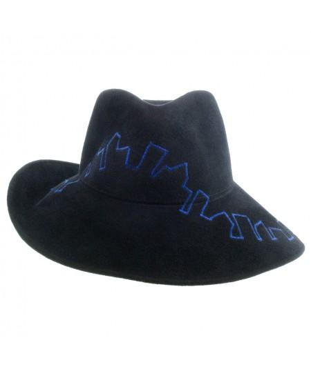 Felt Hat with City Stitch