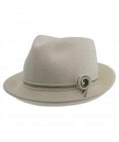 Fedora with Side Curl Trim