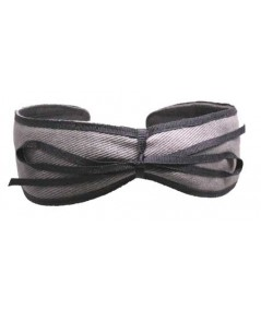 Charocal Headband with Navy Bow by Jennifer Ouellette