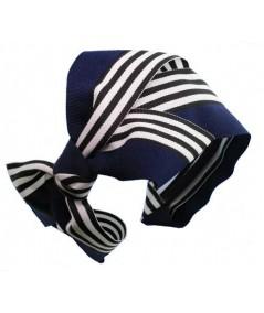 Bow Headband by Jennifer Ouellette Black White