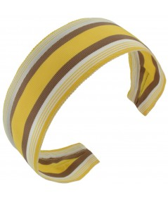 Jennifer Ouellette Retro Stripe Headband - Yellow, Camel, Ivory
