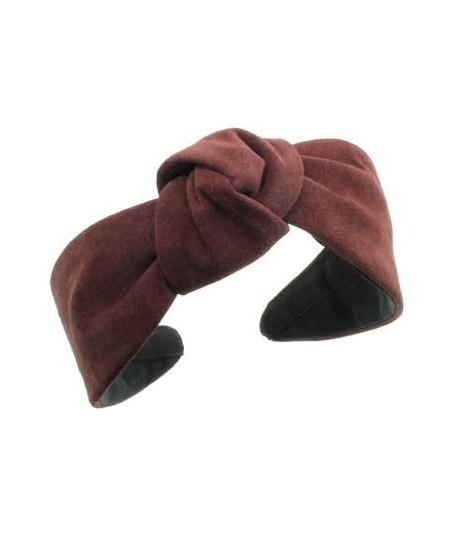 Burgundy suede-center-turban-headband