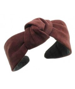 Burgundy suede-center-turban-headband