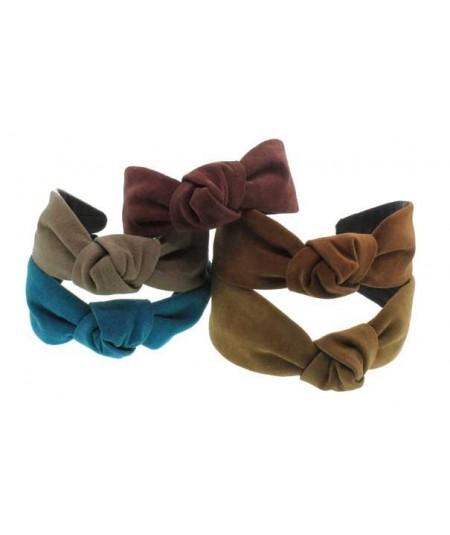 Group suede-center-turban-headband