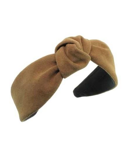Peanut suede-center-turban-headband