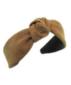 Peanut suede-center-turban-headband
