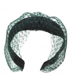 Veiling Extra Wide Center Turban Black with Dark Green