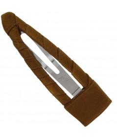 Satin Hair Clip - Bronze
