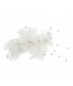 Bridal Floral Barrette by Jennifer Ouellette
