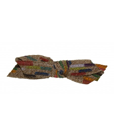Painted Straw Summer Bow Barrette for Women