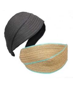 Toyo with Grosgrain Turban Headpiece