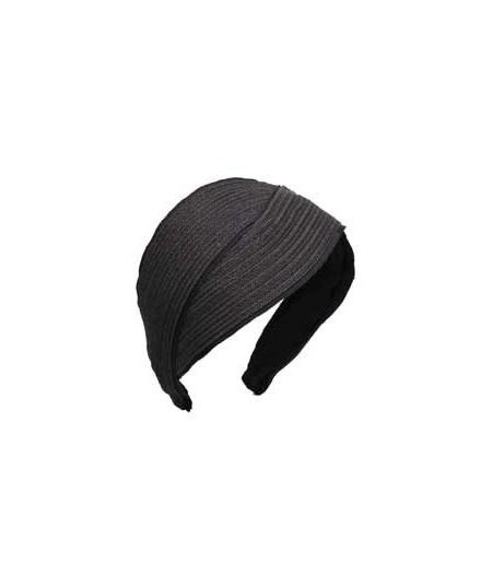 Black Toyo with Black Grosgrain Turban Headpiece