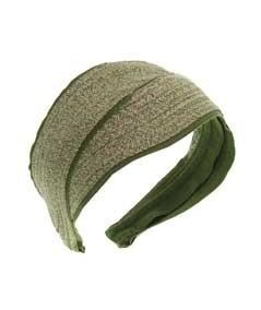 Green Toyo with Green Grosgrain Turban Headpiece