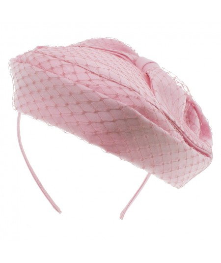Bridal Fascinator Pillbox by Jennifer Ouellette Pale Pink
