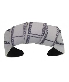 Ivory Twill Film Print with Center Turban Headband