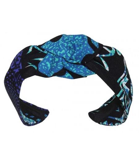 Turquoise Native Hawaiian Print Center Turban Headband