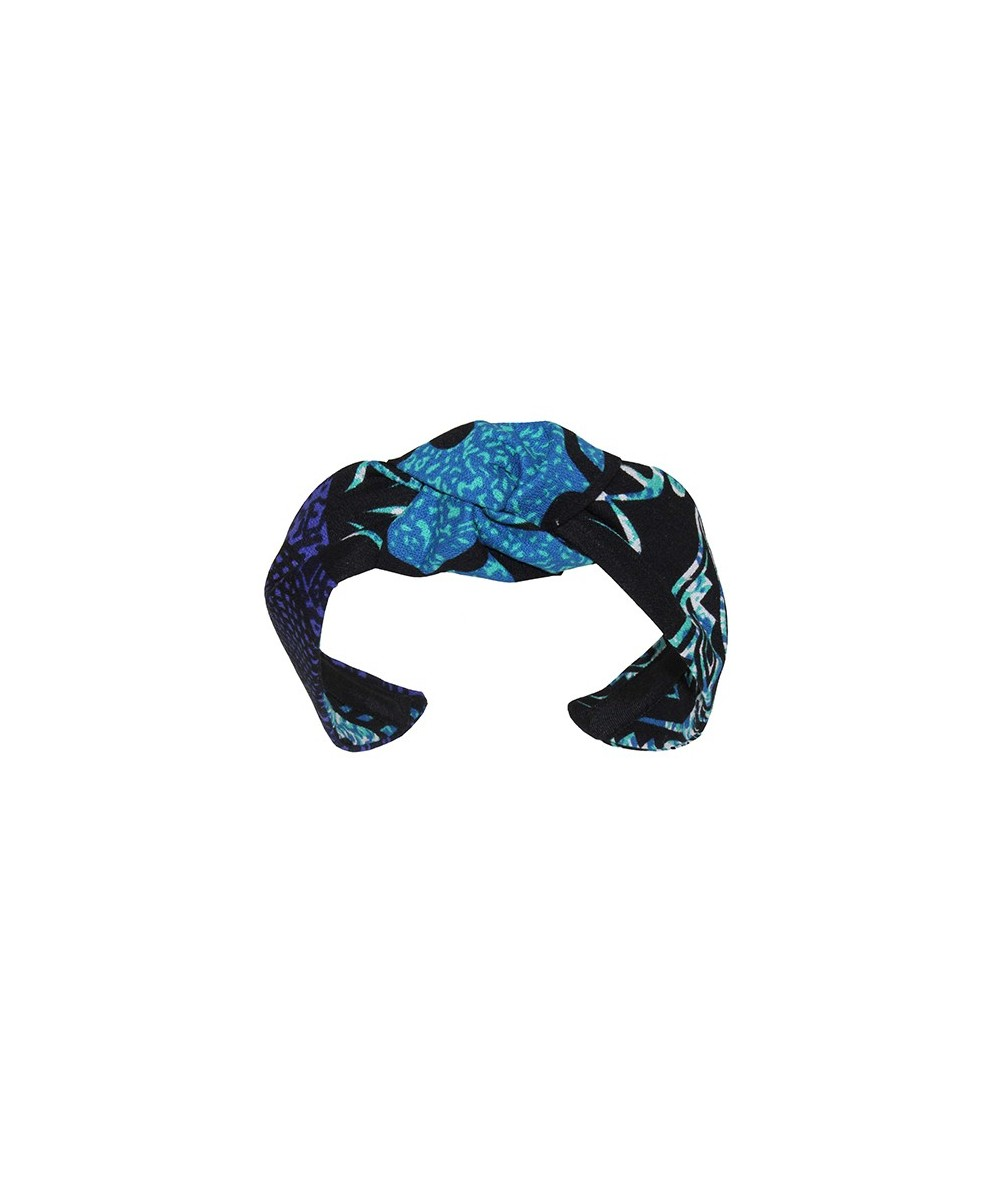 Turquoise Native Hawaiian Print Center Turban Headband