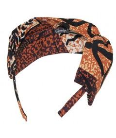 Tribal Hawaiian Barcloth Twist Headpiece