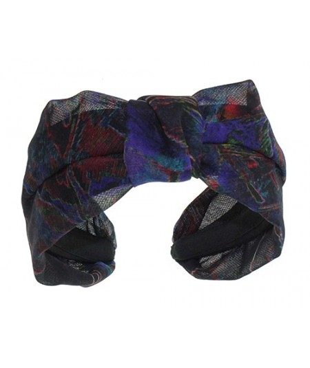 Multi Colored Silk Print Chiffon Miss Draper Headpiece