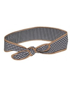 Gingham Checkers with Toyo Binding Headwrap
