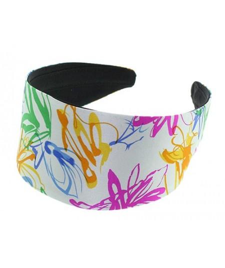 Abtract Silk Print Extra Wide Basic Headband