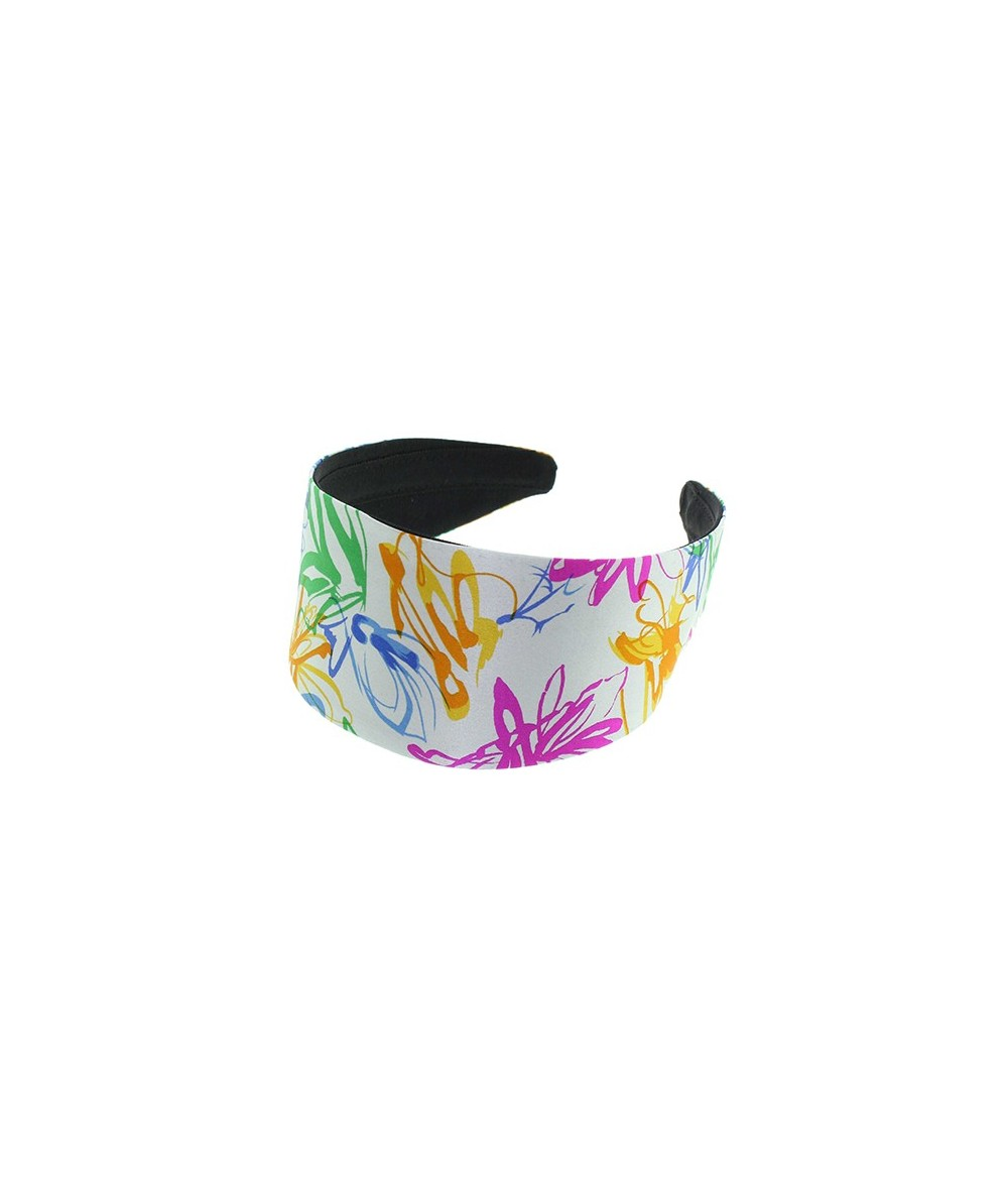 Abtract Silk Print Extra Wide Basic Headband