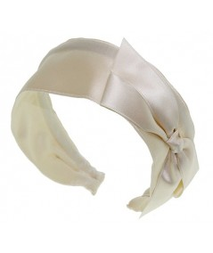 Bridal Satin Side Bow Headband