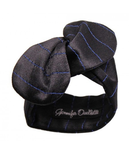 Black Satin Charmuese Wristband with Colored Stitch