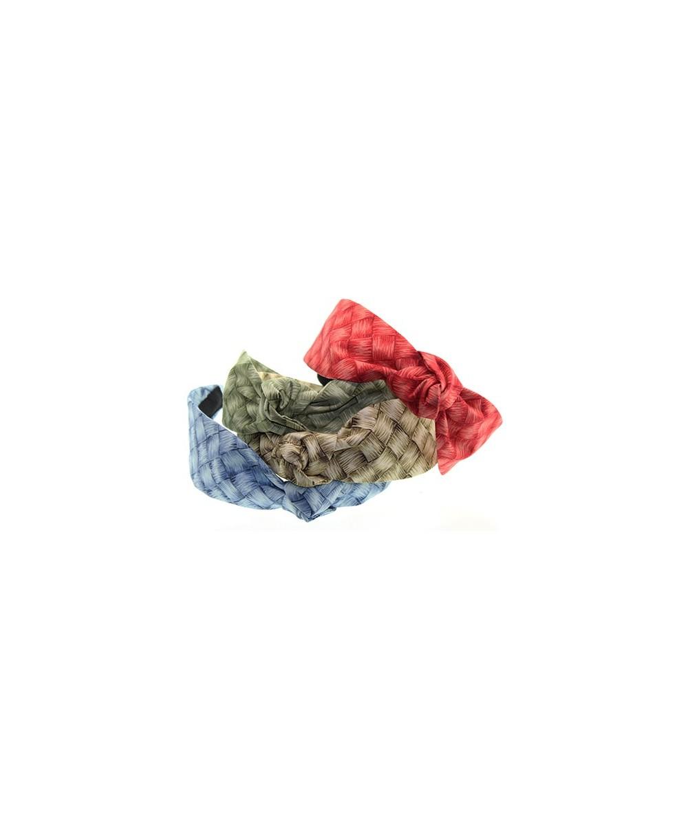 Summer Lauhala Cotton Print Center Turban Headband