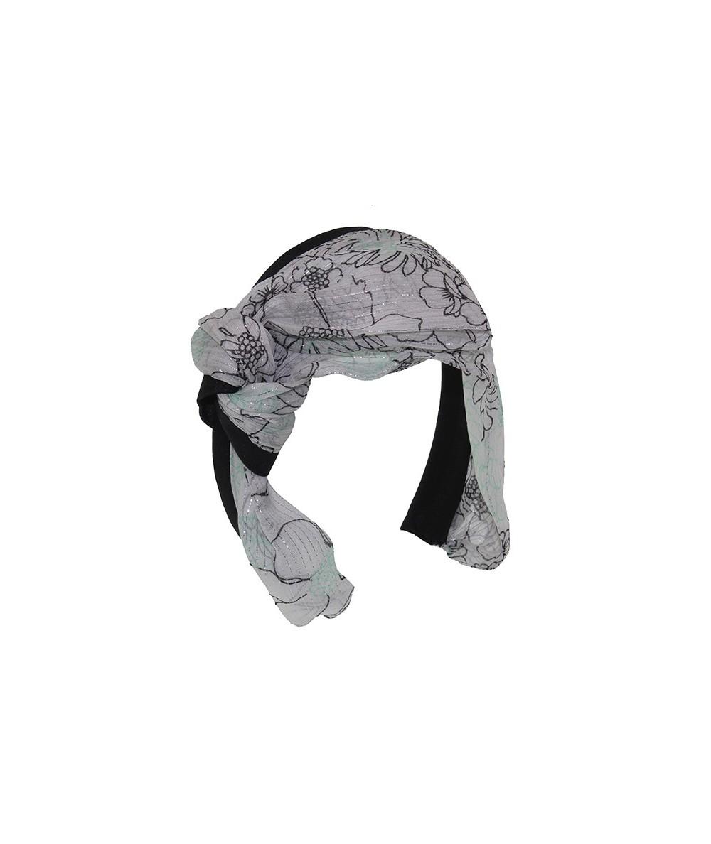 Print Draped Silk Chiffon Serenade Headband