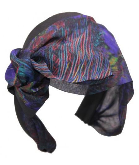 Multi Colored Silk Chiffon Serenade Turban Headband for Women