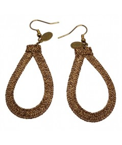 Raffia Straw Loop Earrings