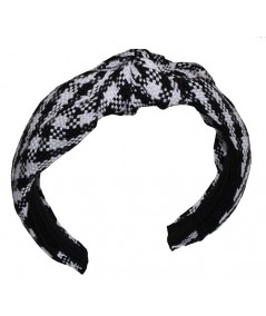 Black and White Braid Turban Headband by Jennifer Ouellette