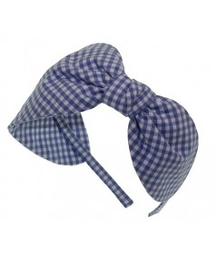 Blue Gingham Check Headband