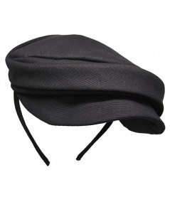 Black Twill Cap Headpiece for Women