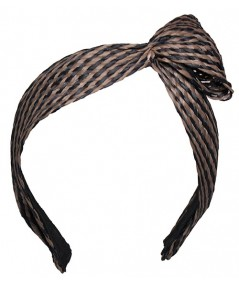 Black and Cocoa Raffia Headband by Jennifer Ouellette