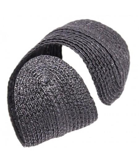 Black Pagalina Straw Wristband