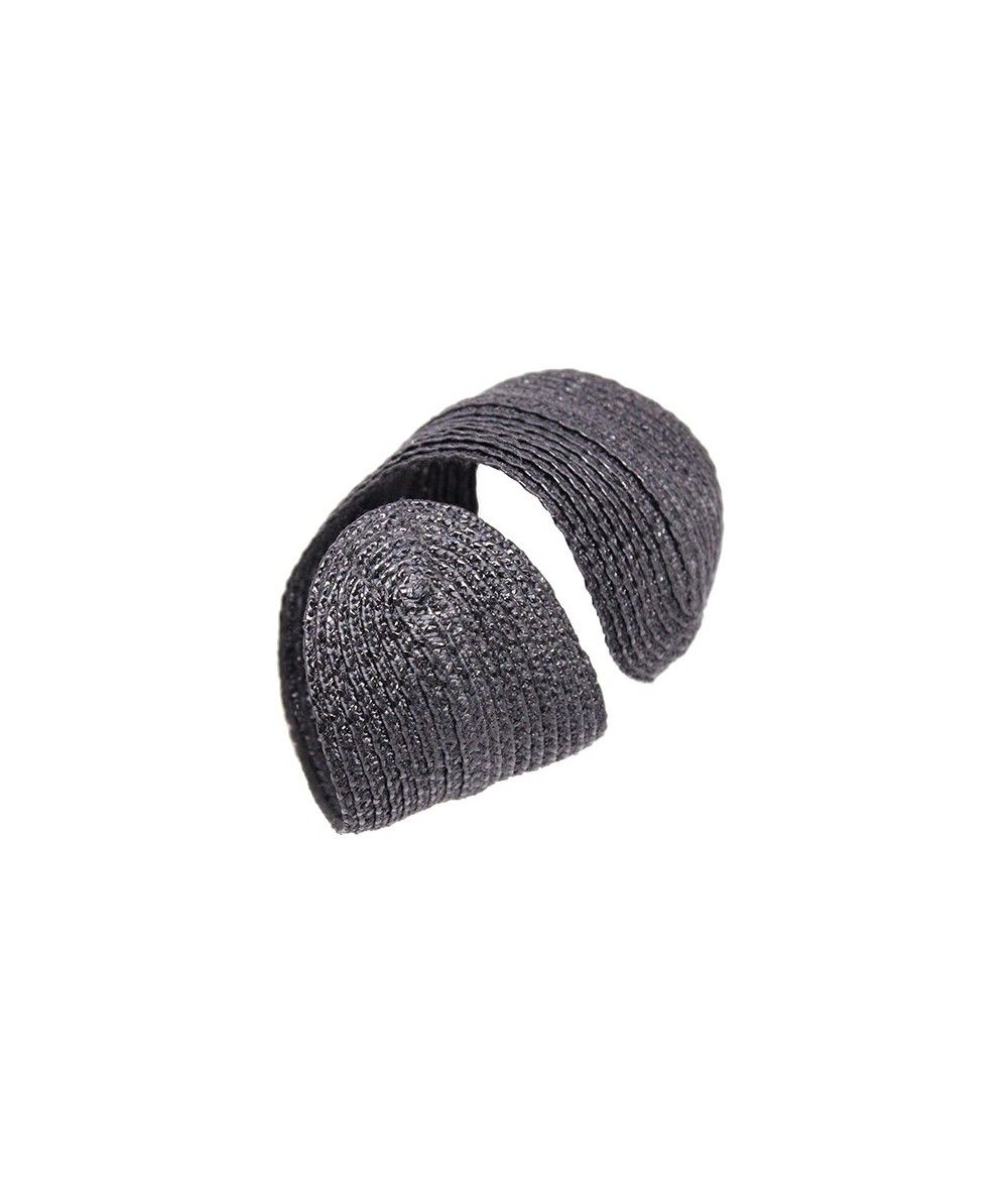 Black Pagalina Straw Wristband