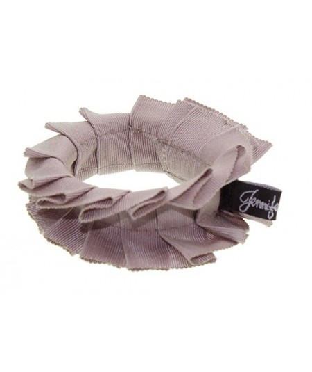 Cocoa Grosgrain Pleated Wristband