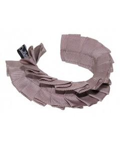 Cocoa Grosgrain Pleated Wristband