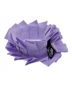 Lilac Grosgrain Pleated Wristband