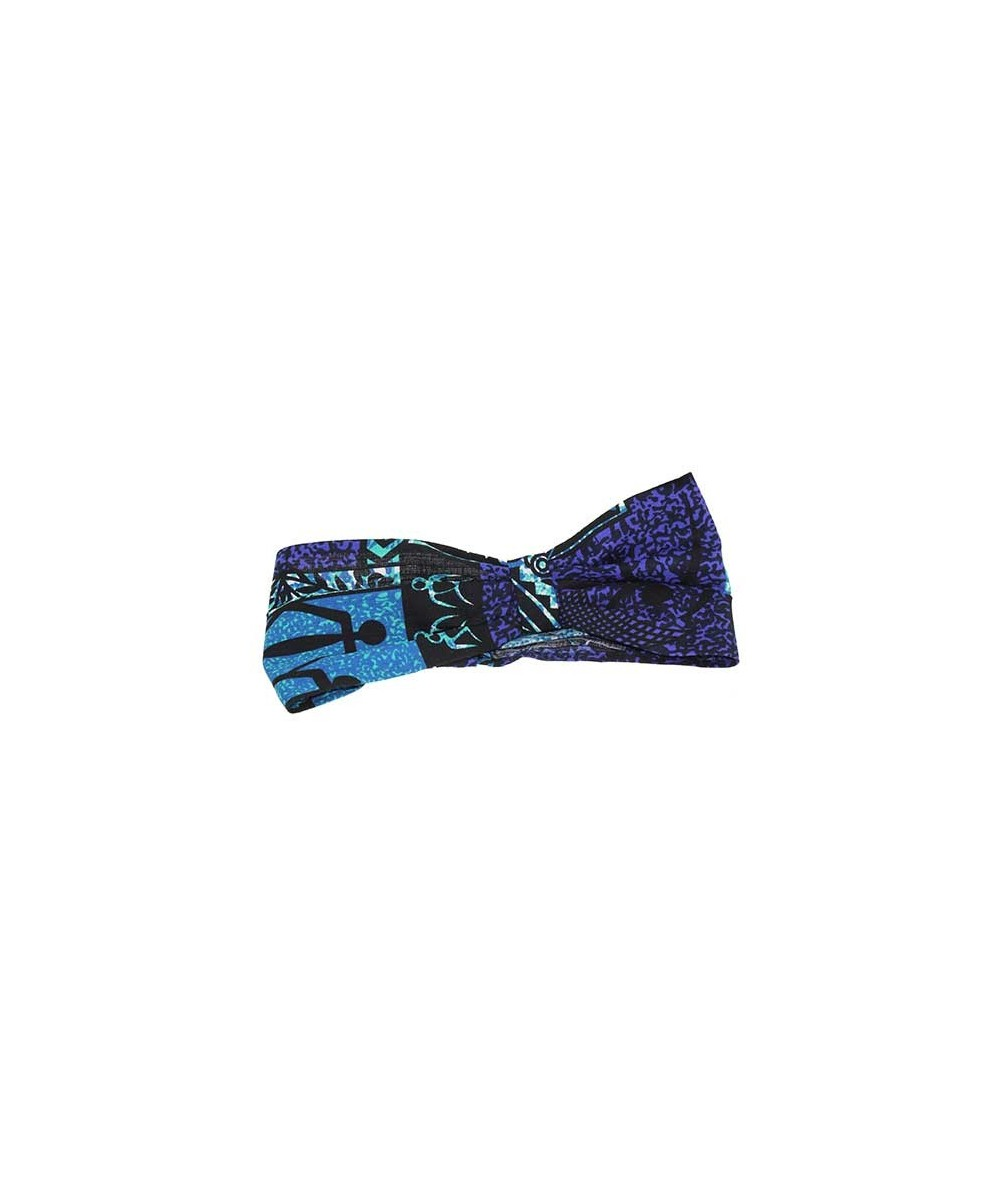 Turquoise Hawaiian Cotton Print Head Wrap