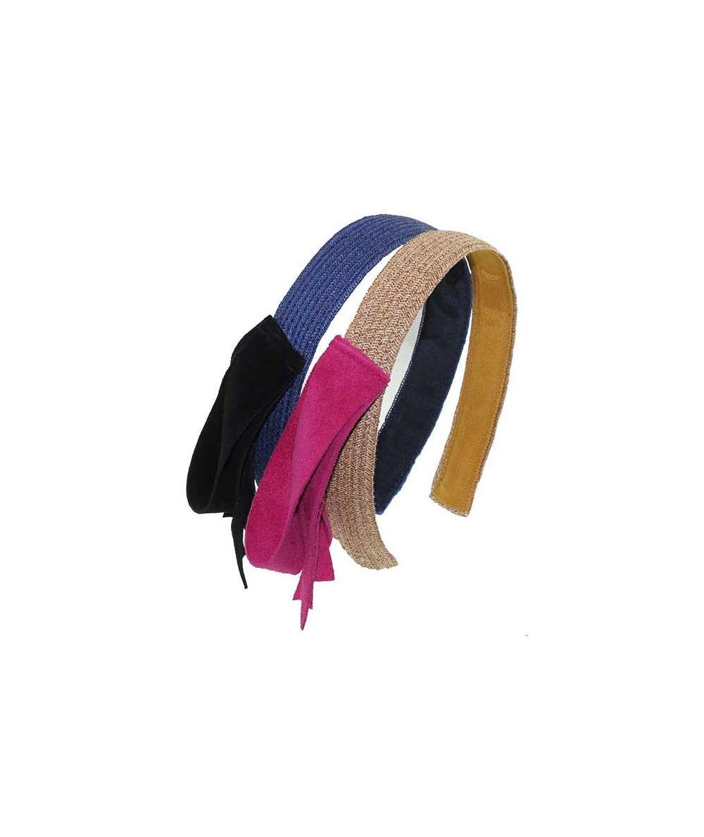 Toyo Straw Headband with Side Suede Detail