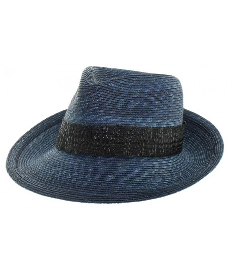 Milan Straw Fedora with Vintage Straw Band