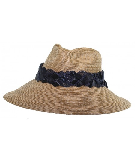 Milan Straw with Vintage Straw Band Fedora Hat