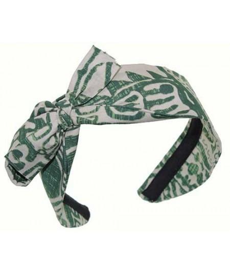 Hawaiian Cotton Print Headband with Side Detail