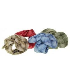 Lauhala Cotton Print Wire Ponytail