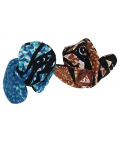 Native Hawaiian Cotton Print Wire Hair Tie