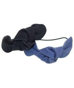 Small Denim Knot Ponytail Holder and Bracelet